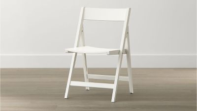 Crate & Barrel Spare White Folding Dining Chairs