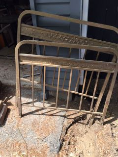 Single antique brass bed