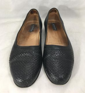 Maraolo Black Dress Shoes Mens Size 9 Loafers Slip Ons Italy Italian Leather
