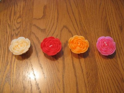 Set of 4 Floating Peony Candles