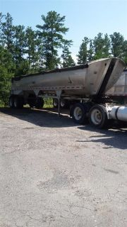 1998 Alumatech 39'x8' All Aluminum Frameless End Dump Trailer