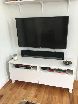 White Ikea TV Stand