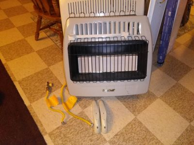 30,000 btu's natural gas heater with gas line
