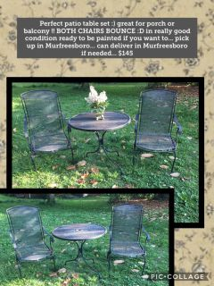Patio table set or bistro table set ... BOUNCY CHAIRS