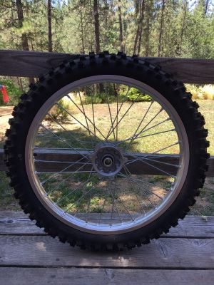 BRAND NEW! Dunlop GEOMAX Dirt Bike Front Tire & Rim