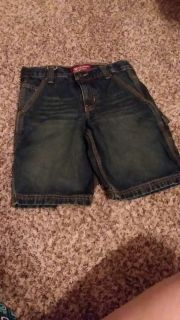Boy's blue jean arizona shorts sz:8 husky