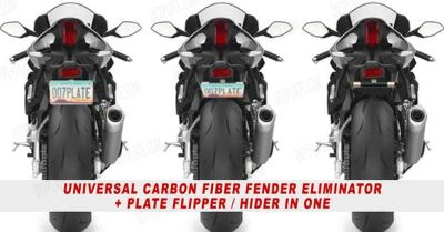 motorcycle license plate hider