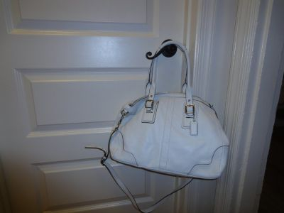 Authentic White Coach handbag