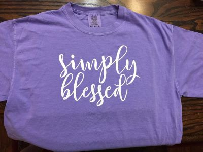 Simply Blessed t- shirt