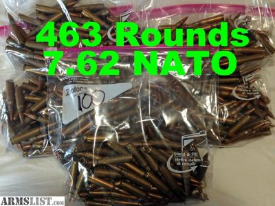 For Sale/Trade: 463 Rounds Surplus 7.62 NATO