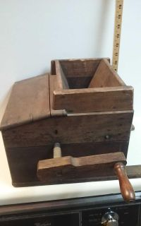 Antique fruit crusher used with cider press