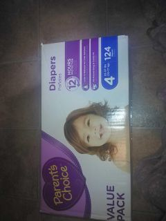 Diapers, Size 4, 124ct