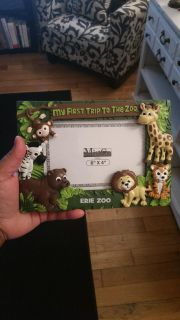 Zoo animals picture frame...brand new