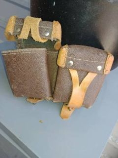 Vintage Leather Ammo Pouches