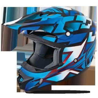 Sell FLY Racing Kinetic Block Out Youth MX Offroad Helmet Blue/Black motorcycle in Holland, Michigan, US, for US $89.95