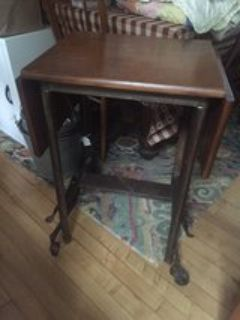 refurbished typewriter table/end table