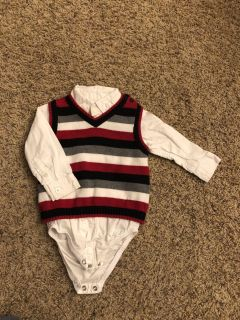 Carters 12 month sweater vest