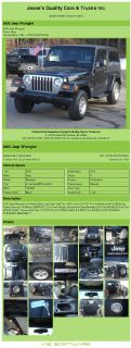 $9,992, 2005 Jeep Wrangler Unlimited 6 Spd Long Body Hard Top 198k Miles 6 Cyl 4x4 Air Conditioning Air Co
