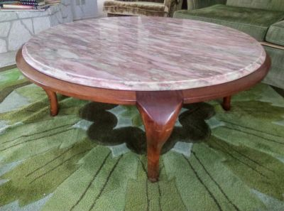 Pink Italian Marble Coffee Table