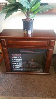 MINI CHERRY WOOD FIREPLACE