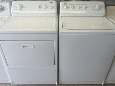 $520, Kenmore Elite Washer and Electric Dryer in White