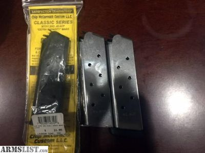 For Sale: 3 Brand new, never used 1911 magazines