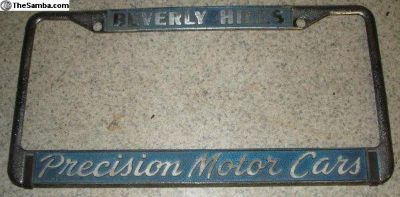 [WTB] Precision Motor Cars Beverly Hills plate frame