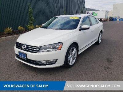 2013 Volkswagen Passat TDI SEL Premium (Candy White)