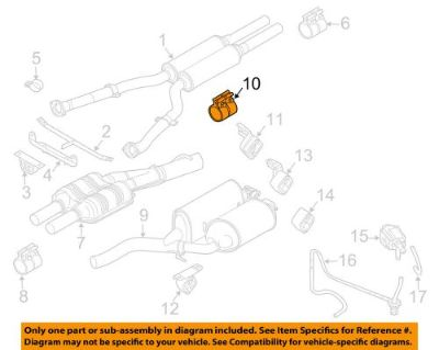 Purchase BMW OEM 03-08 760Li 6.0L-V12 Exhaust-Muffler & Pipe Clamp 18307560782 motorcycle in Shrewsbury, Massachusetts, United States, for US $81.49