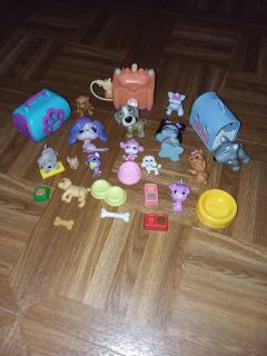 Assorted puppies play set