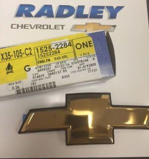Sell CHEVROLET NEW 2005-2009 EQUINOX GOLD BOWTIE GRILL EMBLEM GM OEM 15252284 motorcycle in Fredericksburg, Virginia, United States, for US $21.89
