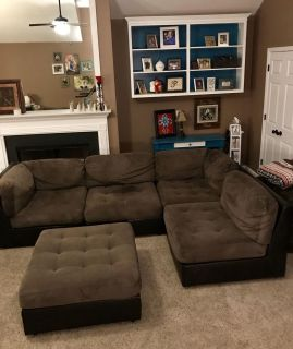 5 pc. Couch love seat sectional ottoman