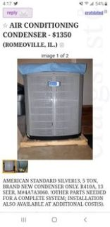 2 A/C condensers & 1 Furnace