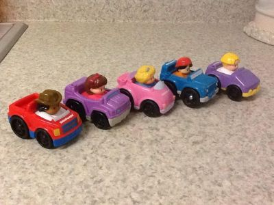 Fisher Price Little People Cars. Set of 5