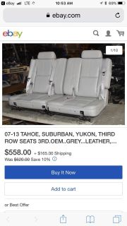 3RD ROW SEATING FOR 2011 CHEVY TAHOE
