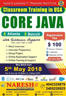 Core Java Classroom Training in USA - NareshIT