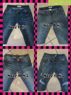 Jeans size 1 and 0
