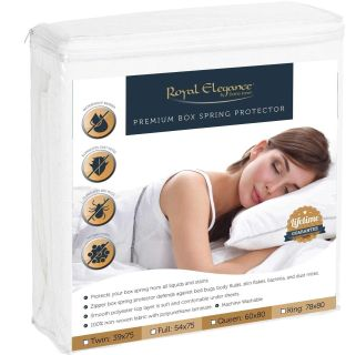 Full Size Waterproof Bed Bug Box Spring Protector - Hypoallergenic
