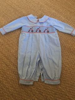 Play Condition Smocked Tricycle Romper, 12m