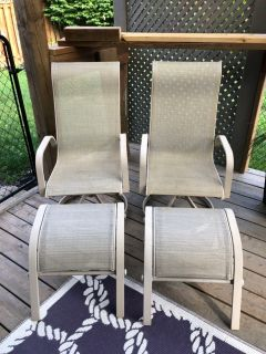 Chairs with Matching Foot Stools