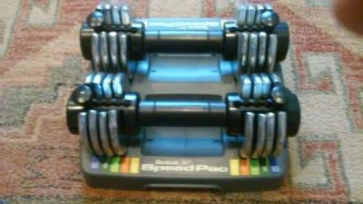 Reebok Speed Pac 25 Adjustable Dumbbells x 2.