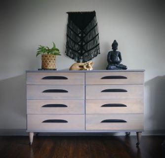 Mid Century Modern Grey Dresser