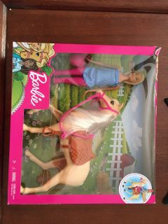 Brand new Barbie with horse