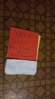 3 family Yard sale....Friday and Saturday 8 to 3 lots of stuff 1806 Roosevelt st Allentown pa18104 south whitehall