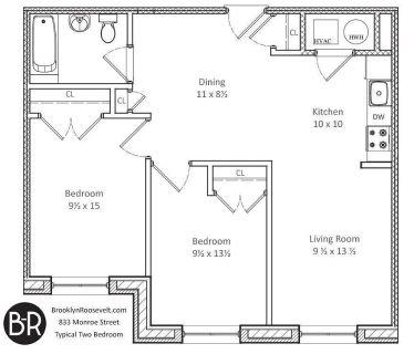 $1300 ROOM IN LUXURY 2 Bed APT 1 block from GATES AVE J/Z train (Bushwick)