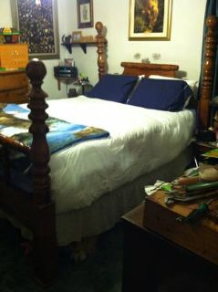 Queen size four post bed