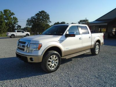 2011 Ford F-150 XLT (WHITE/TAN BOTTOM)