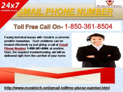 The Advantages Offered By Gmail Phone Number 1-850-361-8504