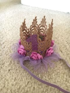 First birthday baby crown