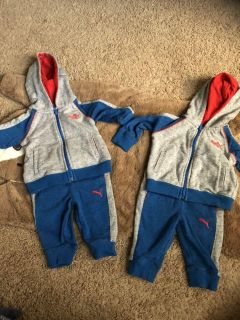 Puma Twin Running Suits 3-6 months